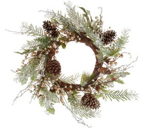 """""""As Is"""" Champagne Eucalyptus Berry 20"""" Wreath Vale"""