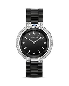 Bulova - Rubaiyat Black Dial Watch, 35mm