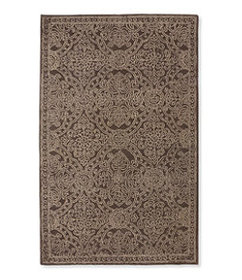 LL Bean Scroll Leaf Wool Tufted Rug, Mocha