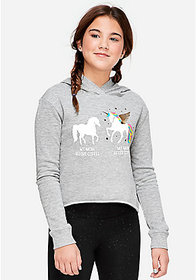 Justice Unicorn Coffee Mom Graphic Hoodie