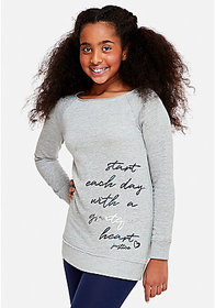 Justice Positive Message Tunic Sweatshirt