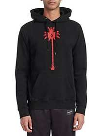 Marcelo Burlon Palm Tree Cotton Hoodie BLACK
