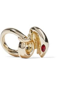 KENNETH JAY LANE Gold-tone crystal ring