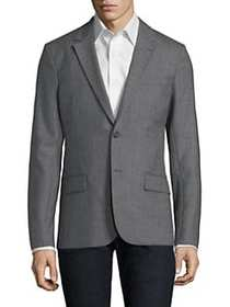 AMI Wool Notch Lapel Sportcoat HEATHER GREY