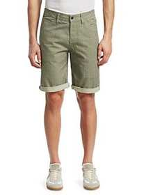 G-Star RAW Elwood 5622 Cotton Check Shorts MARBLE