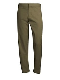 Helmut Lang Zip Hem Cotton Pants OLIVE
