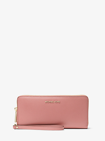 Michael Kors Crossgrain Leather Continental Wristl