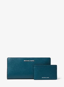 Michael Kors Large Crossgrain Leather Slim Wallet
