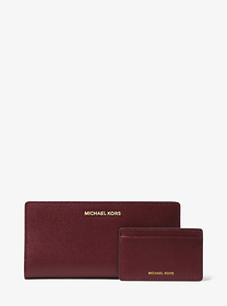 Michael Kors Large Saffiano Leather Slim Wallet