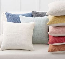 Pottery Barn Faye Textured Linen Pillow Covers