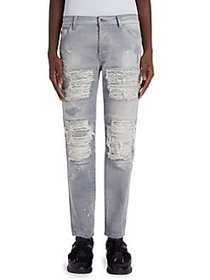 Marcelo Burlon Greg Straight-Fit Biker Jeans LIGHT