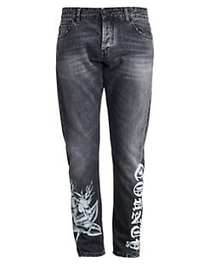 Marcelo Burlon Light Wash Skinny-Fit Jeans BLACK W