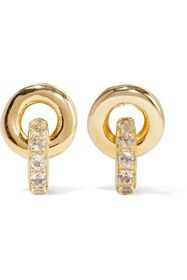 ELIZABETH AND JAMES Gold-plated topaz earrings