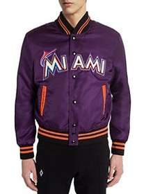 Marcelo Burlon Miami Marlins Satin Bomber Jacket V