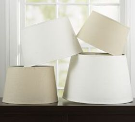 Pottery Barn Linen Tapered Lamp Shade, Taped Edge