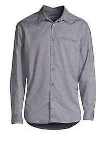 John Varvatos Marled Button-Down Shirt LAKE BLUE