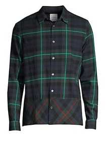 Paul Smith Tartan Button-Down Shirt GREEN