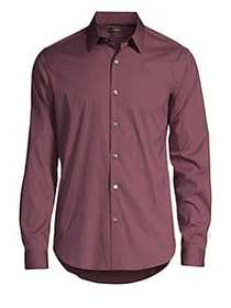 Theory Sylvain Wealth Button-Down Shirt BURGUNDY
