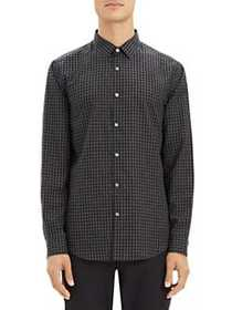 Theory Murrary Cotton Flannel Shirt GREY