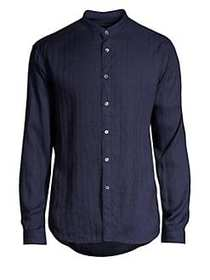 John Varvatos Slim Button-Front Shirt INDIGO