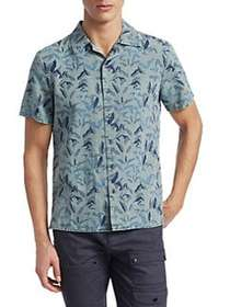 Madison Supply Woven Floral Short-Sleeve Cotton Bu