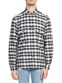 Marcelo Burlon Plaid Button-Down Shirt BLACK