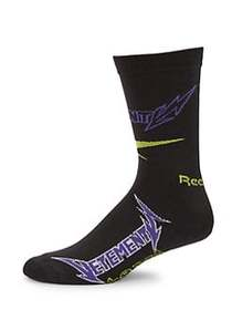 Vetements X Reebok Classic Cut-Up Socks BLACK PURP