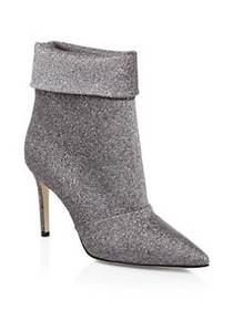Paul Andrew Glitter Fold-Over Stiletto Bootie PEWT