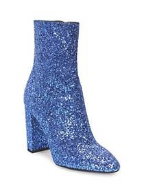 Saint Laurent Loulou Glitter Zip-Up Ankle Boots TU