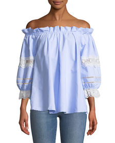 Romeo & Juliet Couture Ruffled Off-The-Shoulder Bl