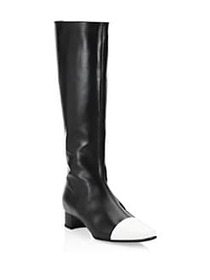 Manolo Blahnik Wakia Colorblock Leather Knee-High