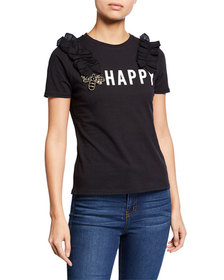 Free Generation Happy Embellished Screen Tee