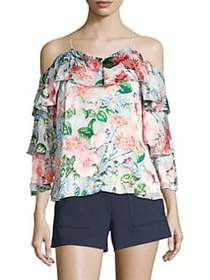 Alice + Olivia Mary Floral Blouse FLORAL FIELDS