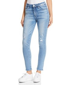 PAIGE - Hoxton Ankle Skinny Jeans in Kayson Distre