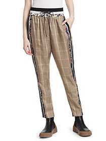 3.1 Phillip Lim Checked Floral Pants RUST BROWN