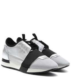 Balenciaga Race Runner metallic leather sneakers