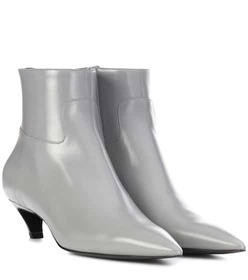 Balenciaga Slash Heel leather ankle boots