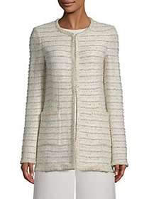 St. John Blended Boucle Knit Jacket BEIGE