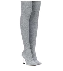 Miu Miu Stretch-knit over-the-knee boots