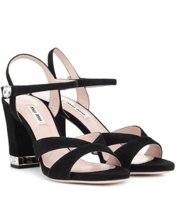 Miu Miu Embellished suede sandals
