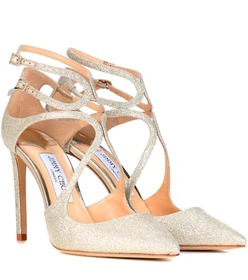 Jimmy Choo Lancer 100 glitter pumps