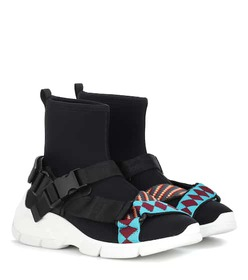 Prada Neoprene high-top sneakers