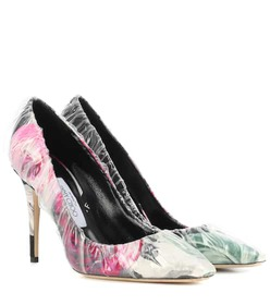 Jimmy Choo X Off-White Anne 100 floral jacquard pu