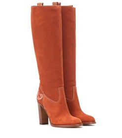 Etro Suede knee-high boots