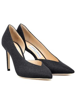 Jimmy Choo Sophia 85 glitter leather pumps
