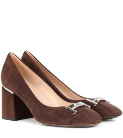 Tod's Double T suede pumps