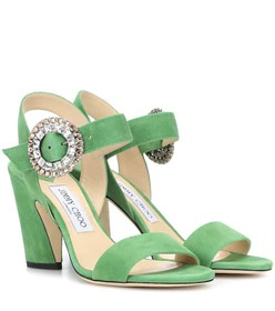 Jimmy Choo Mischa 85 suede sandals