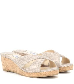 Jimmy Choo Almer 50 leather slides