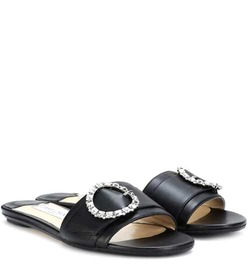 Jimmy Choo Granger embellished leather slides