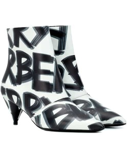 Burberry Graffiti leather ankle boots